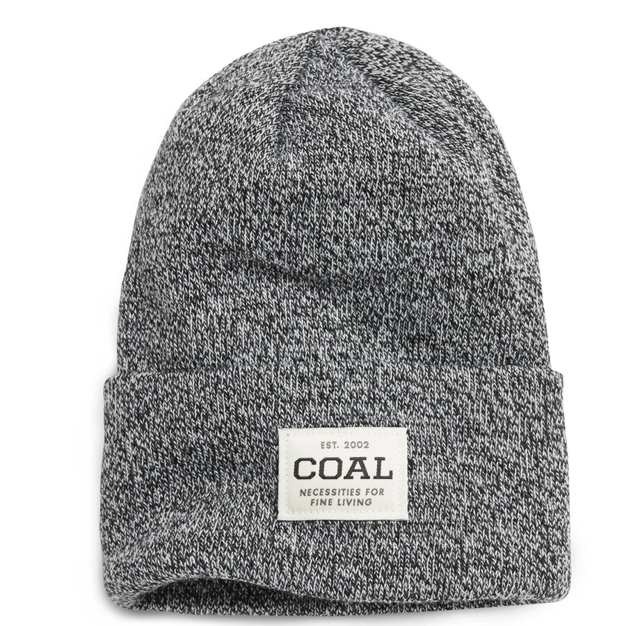 Coal Mens The Uniform - Black Marl, Apparel Accessories, Coal Headwear, Beanies, A staple for everyday wear - a traditionally cuffed beanie with a custom woven patch at the side. Offered in a rainbow of classic marls and solid colors. Material: 100% Acrylic