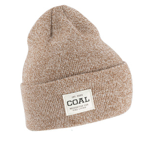 Coal Mens The Uniform - Light Brown Marl, Apparel Accessories, Coal Headwear, Beanies, A staple for everyday wear - a traditionally cuffed beanie with a custom woven patch at the side. Offered in a rainbow of classic marls and solid colors. Made in the USA.