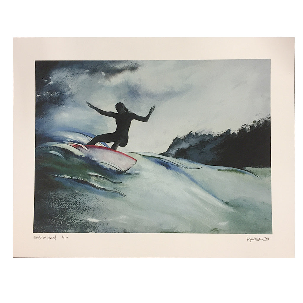 Kara Sparkman Watercolors - Vancouver Island - Seaside Surf Shop