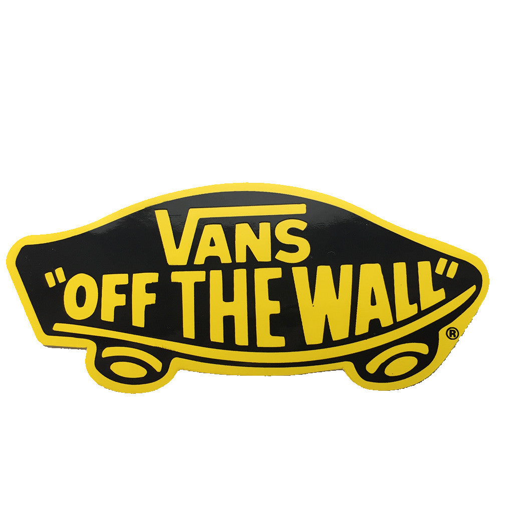 "-Misc. Stuff-Vans -Off the Wall - 4x2"" Black/Yellow-Vans-Seaside Surf Shop"