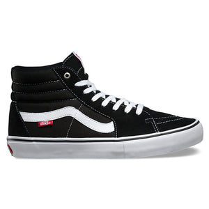Vans Mens SK8 Hi Pro Shoes - Black/True White-Vans-Seaside Surf Shop