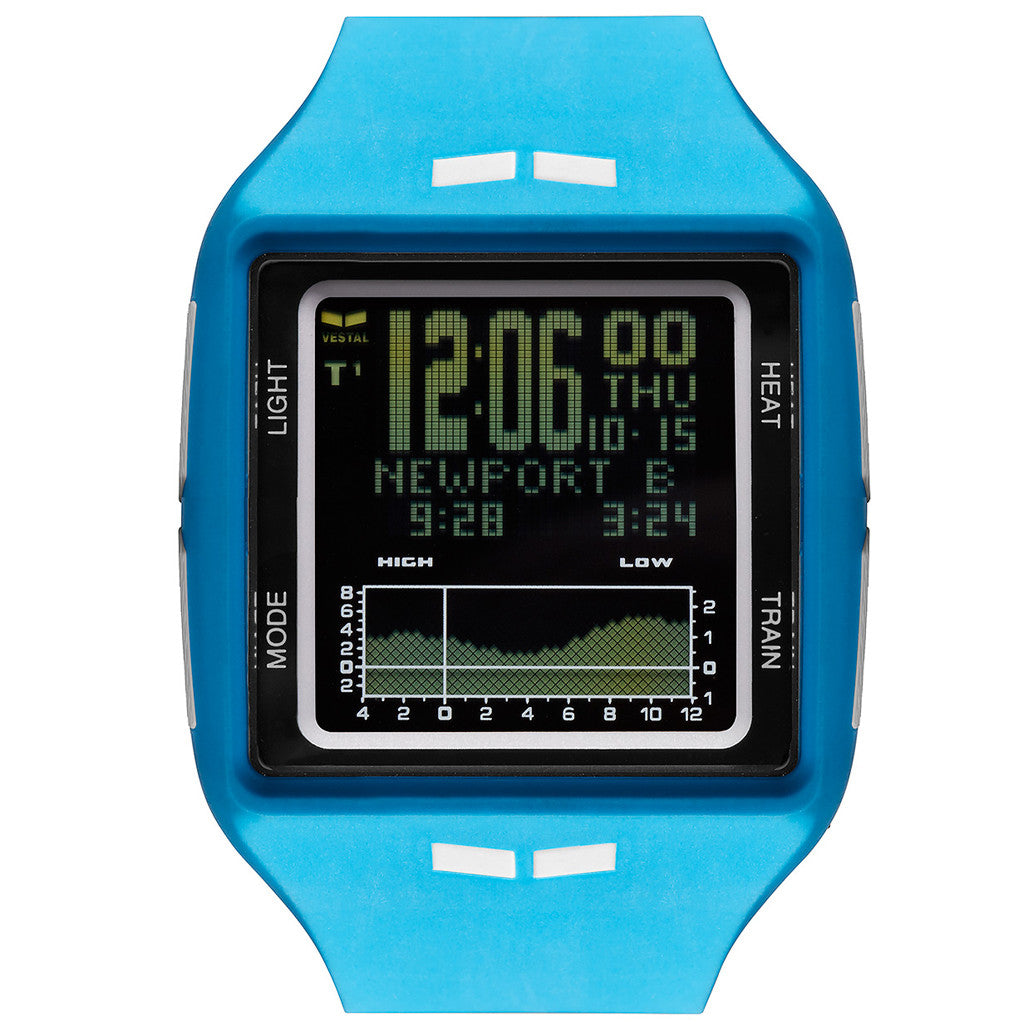Vestal Brig Surf & Tide Trainer Watch - Blue/White/Black