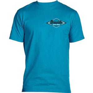 Seaside Surf Shop Mens Vintage Logo Tee - Teal, Apparel, Seaside Surf Shop, Mens Tees, Cool enough to chill with the old school, fresh enough to represent Seaside Surf Shop even at a hipster party. The only T-shirt you need. Beefy Hanes Tee - the color is more blue teal than pictured.