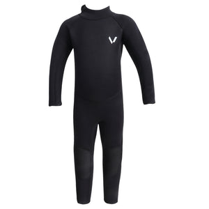 Volte Vital Toddler 2x2 Back Zip Steamer Wetsuit - Black