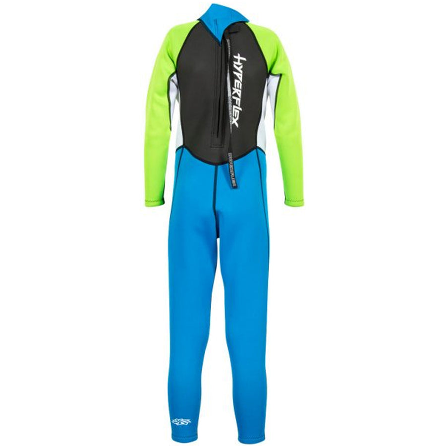 Hyperflex Access Child's 3/2mm Backzip Fullsuit - Blue/Green