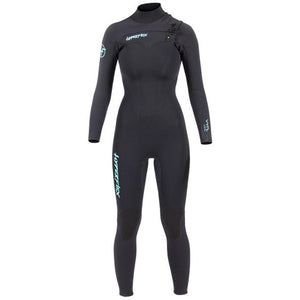 Hyperflex Vyrl Womens 4/3mm Front Zip Fullsuit - Black