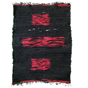 Recycled Wetsuit 26x20 Rug - Black/Red