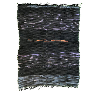 Recycled Wetsuit 26x19 Rug - Black/Grey/Purple/Orange