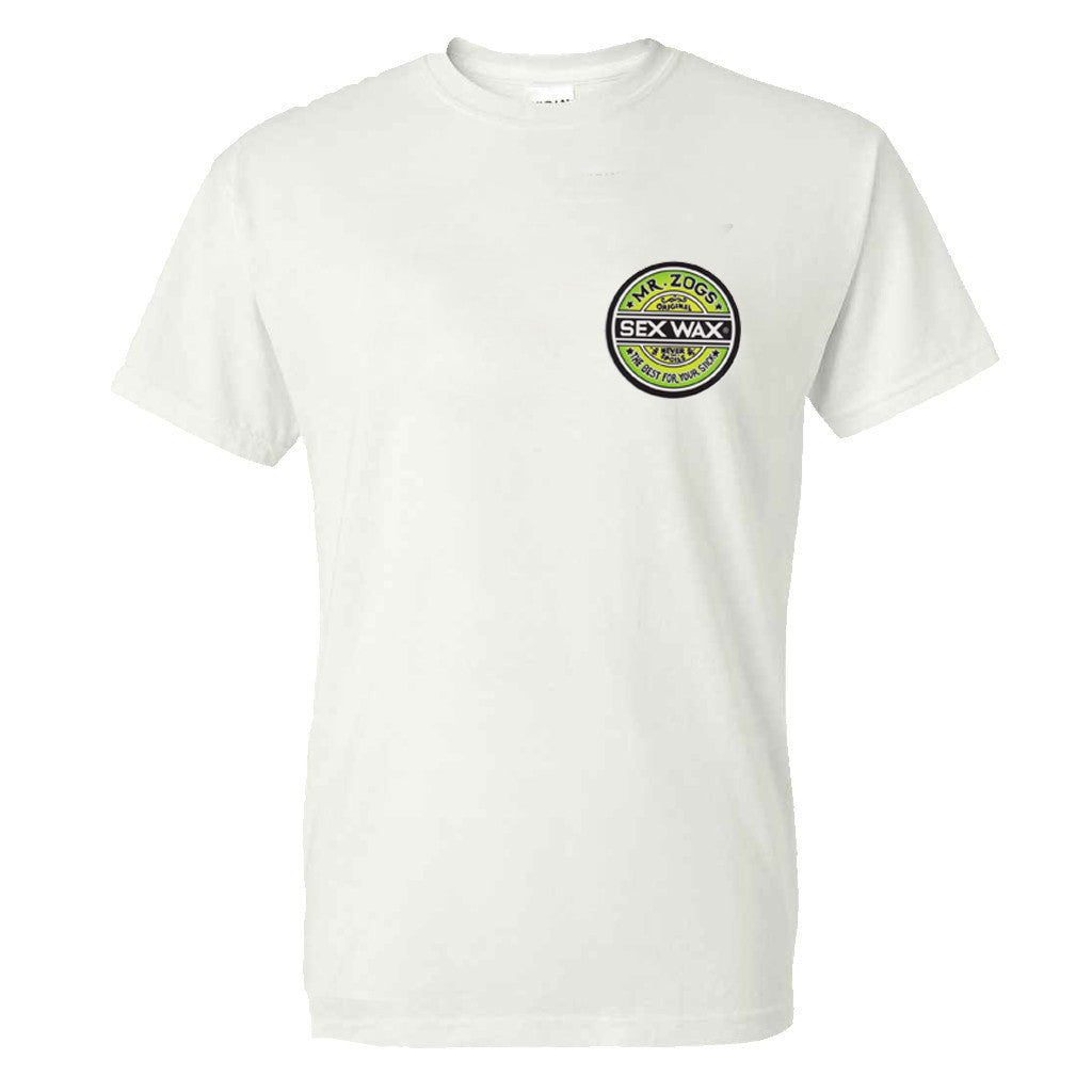 Mr. Zog's Sex Wax Mens Fade Tee - White - Seaside Surf Shop
