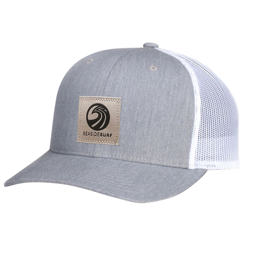 Seaside Surf Shop New Wave Logo Patch Cap - Grey/White
