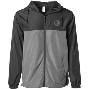 Seaside Surf Shop New Wave Logo Windbreaker - Black/Graphite