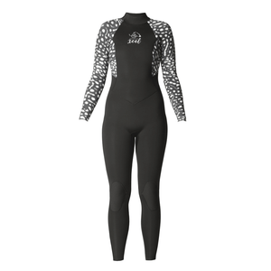 Xcel Axis Womens 4/3mm Backzip Fullsuit - Whale Shark-Xcel Wetsuits-Seaside Surf Shop