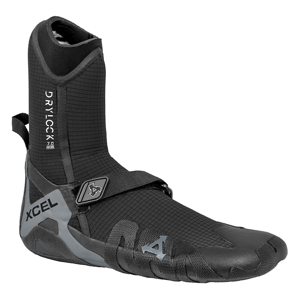 Xcel Drylock 7mm Round Toe Boot - Black/Grey - Seaside Surf Shop