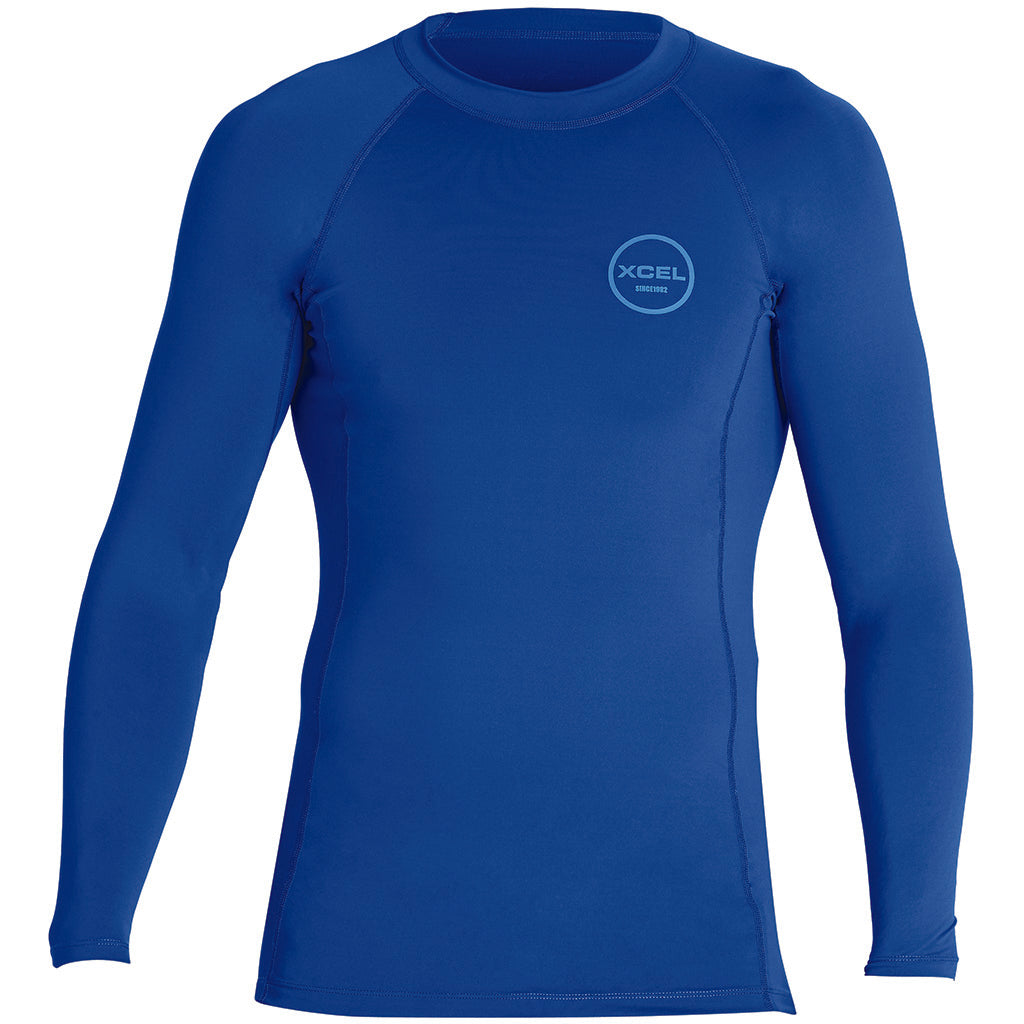 Xcel Mens Premium Stretch L/S UV Rashguard - Faint Blue - Seaside Surf Shop