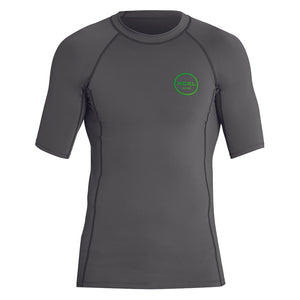 Xcel Mens Premium Stretch S/S UV Rashguard - Gunmetal-Xcel Wetsuits-Seaside Surf Shop