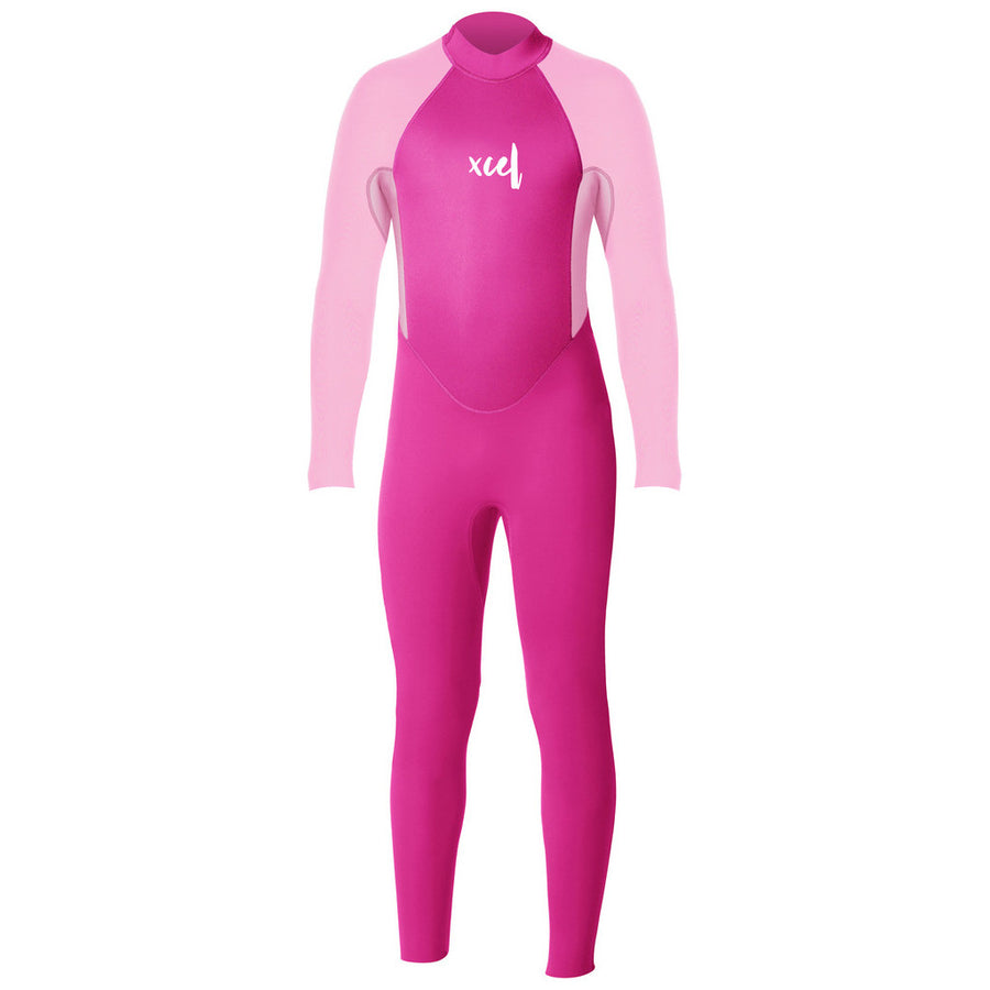 Xcel Toddler 3mm Fullsuit Wetsuit - Pink/Rose Quartz-Xcel Wetsuits-Seaside Surf Shop