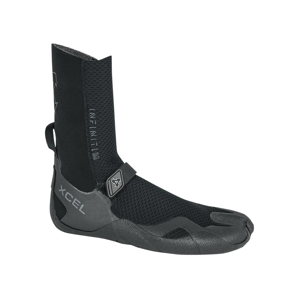 Xcel Infiniti 8mm Round Toe Boot - Black - Seaside Surf Shop