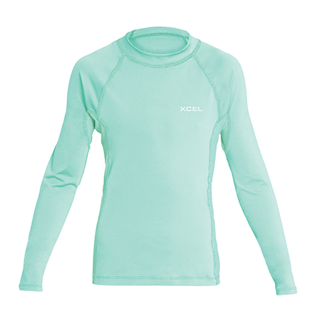 Xcel Girls Premium Stretch L/S UV Rashguard - Pistachio - Seaside Surf Shop