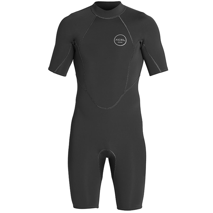 Xcel Axis Mens 2mm Springsuit - Black, Wetsuits, Xcel Wetsuits, 2mm Wetsuits, meta-size-chart-xcel-wetsuit-size-chart, If the water's 69 degrees, you're stoked to be in the Xcel Wetsuits Axis spring suit. It's made entirely of crazy UltraStretch rubber, and the seams are comfortable against the skin. Off-set back zipper for easy entry and exit. Wearing only 2mm feels like surfing in your birthday suit.Comfortable flatlock seams; Texture Skin outer front and back torso for excellent wind resistance.