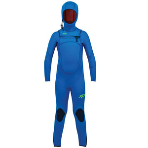 Xcel Comp Youth 4.5/3.5mm Hooded Wetsuit - Faint Blue