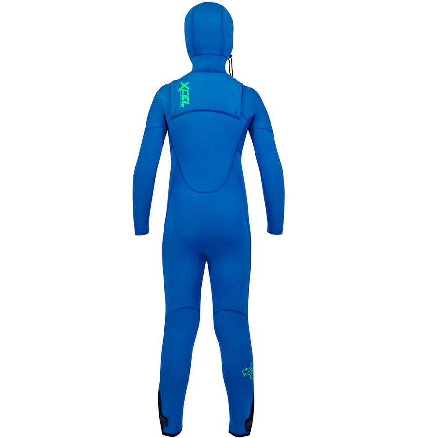 Xcel Comp Youth 4.5/3.5mm Hooded Wetsuit - Faint Blue, Wetsuits, Xcel Wetsuits, 4mm Wetsuits, meta-size-chart-xcel-wetsuit-size-chart, Keep the groms warm and stoked with the all new Xcel Comp Youth Hooded Wetsuit for 2019-20 season. Featuring new lightweight warmth in a combination of 4.5/3.5mm ultra flex neoprene, and easy entry system. Fully lined with Thermo Lite upper body.