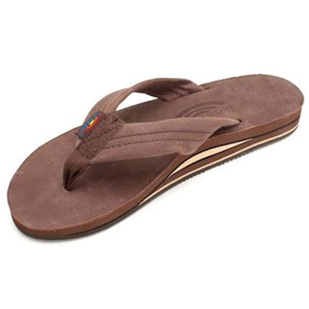 -Footwear-Rainbow Sandals Mens Premium Leather Double Arch - Expresso-Rainbow Sandals-Seaside Surf Shop