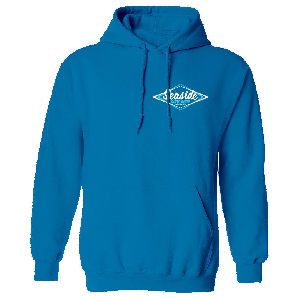 Seaside Surf Shop Youth Vintage Logo Pullover Hoody - Sapphire Blue - Seaside Surf Shop