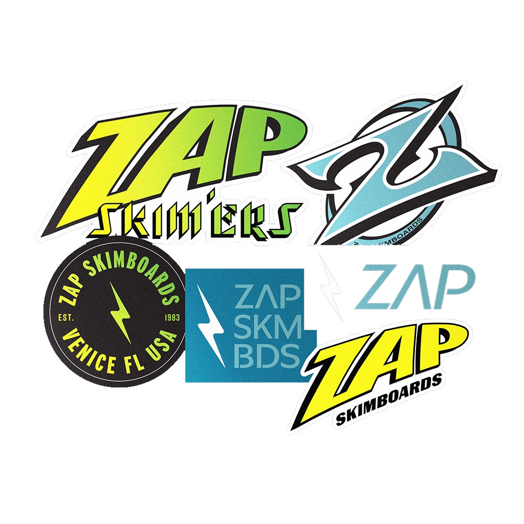Zap Skimboards - Assorted Stickers - Seaside Surf Shop