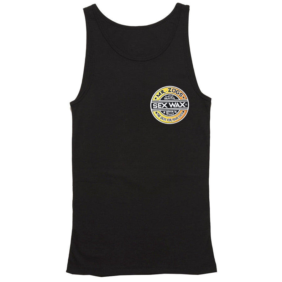 Sex Wax Mens Fade Tank - Black-Zogs Sex Wax-Seaside Surf Shop