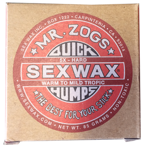 Sex Wax 5x Tropical (4 Pack), Surf Accessories, Zogs Sex Wax, Zogs Sex Wax, Our water is too cold for this wax but sometimes you need to get out of here and head south...then youre going to have to pack some of this for the trip. (We can mix up the wax if you need basecoat/tropical, 1x, 2x, 3x, 4x, 5x or 6x Zogs or Sticky Bumps otherwise you will receive 4 bars as ordered....Just leave a note at checkout if you want us to change up the wax)