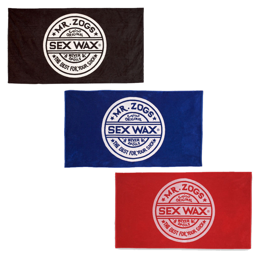 Zogs Sex Wax Terry Jacquard Towels - Seaside Surf Shop