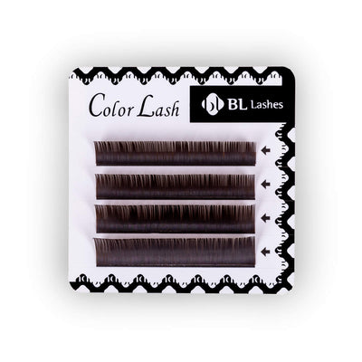 BL Coloured Lashes Front On - Dark Brown