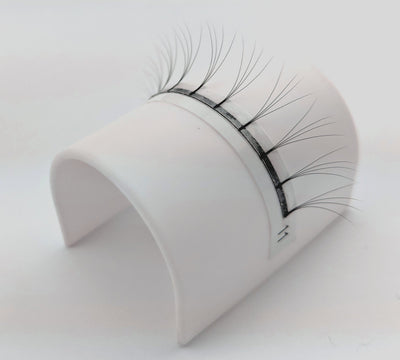 4D Pre Made Volume Fans Single on Lash Bridge - C Curl