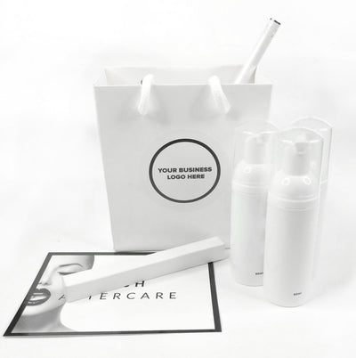 Client Retail Aftercare Pack Display - White