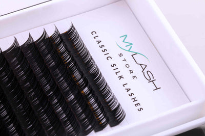 My Lash Store Premium Silk Lashes Close Up - L Curl
