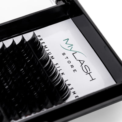 My Lash Store Silk Lash Extensions Close Up - C Curl
