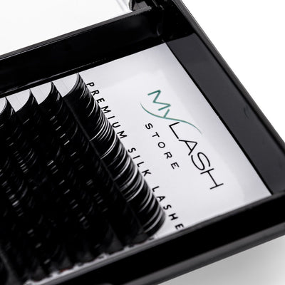My Lash Store Silk Lash Extensions Close Up - D Curl