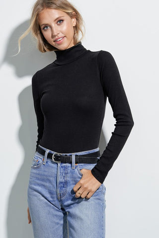 Ribbed Turtleneck : Black