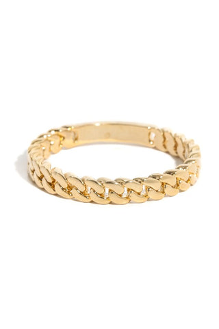 Chain Link Ring : Gold