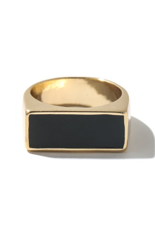 Signet Ring : Gold & Black