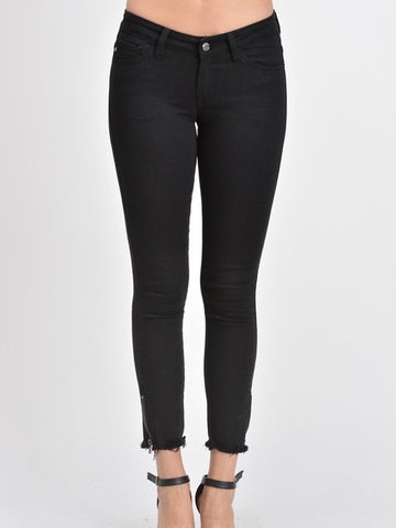 Iconic Zip Skinny : Black