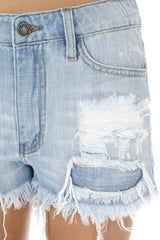 Tulsa Distressed Cut Off Denim Shorts