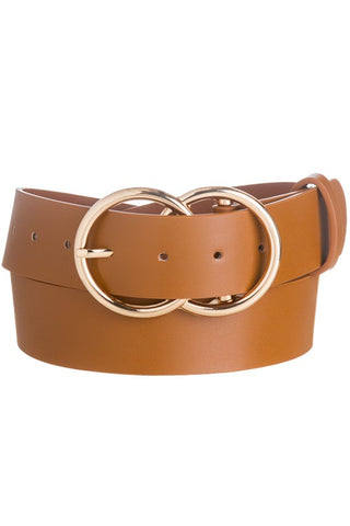 Belt : Camel with Gold Buckle