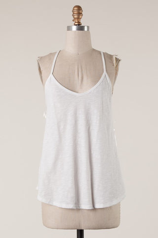 Racerback Tank Top : Off-White