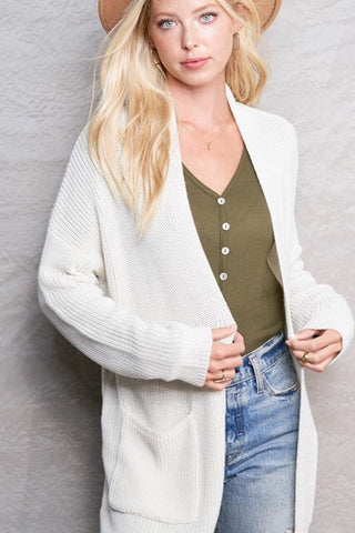 Frankie Open Front Cardigan : Cream