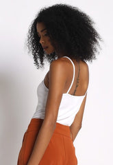 Ruffle Tank Top : White