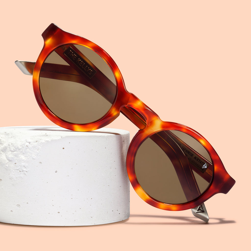 The Kellys Sunglasses in Red Tortoise by Hungry Eyewear SS16 Campaign