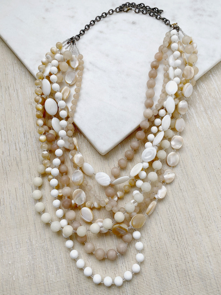 8316JN - White Shell Necklace