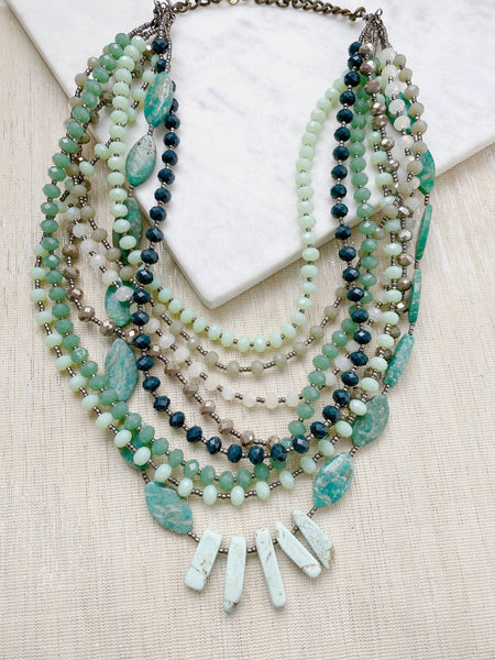 8317JN - Turquoise Layers Necklace