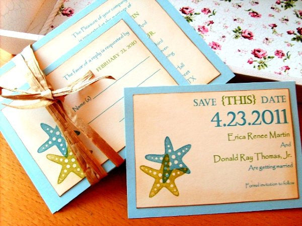 No. 017 - Starfish/Beach Themed Save the Date